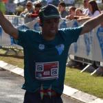לירון בסיום מרתון טבריה 2017