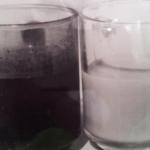 כוס חלב ולידה כוס קפה שחור