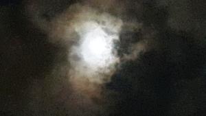 ירח מאיר בלילה חשוך