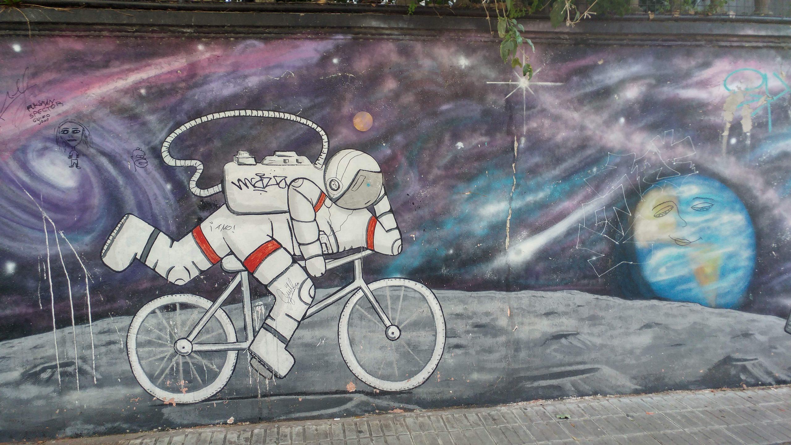 אסטרונאוט על אופניים
